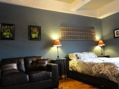 dining room: Behr smokey blue