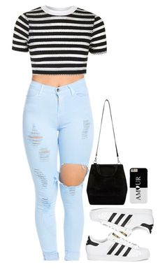 """~Over The Rainbow - Todrick Hall~"" by tiffanymejia ❤ liked on Polyvore featuring Topshop and adidas Originals"
