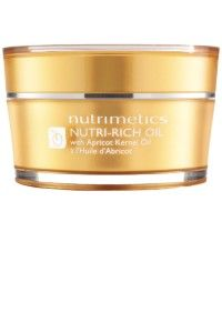 Nutrimetics Nutri-Rich Oil Ingredients - Apricot Kernel Oil / Vitamin E / Carrot Oil now coming to America for the first time! Moisturizer For Dry Skin, Oils For Skin, Vitamin E, Makeup Yourself, Health And Beauty, My Nails, Hair Beauty, Hacks, Skin Care