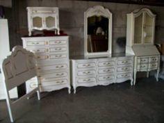 French Provincial bedroom set  shabby chic by JellyBeanVintagecom, $2350.00