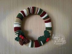 Coronas navideñas de crochet para las puertas