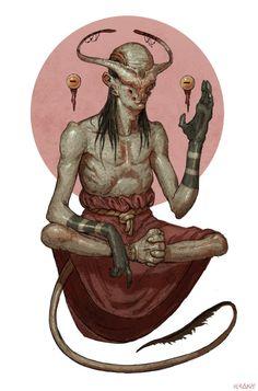 demon guru by tom krakyDigital Art Masters Volume 2