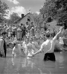 Baptising in Olde Towne Creek, Red Hill, Tennessee, 1938