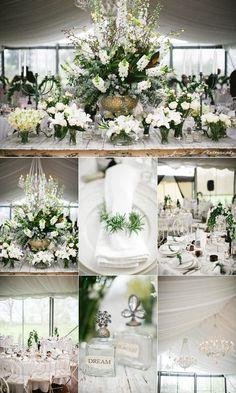 white on white flower arrangements
