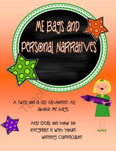 ME bags and personal narratives: an integrated unit from Ms Tacks Artifacts on TeachersNotebook.com (17 pages)