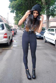 She Wears Fashion in the Lita Platform Boot
