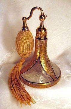 creativemuggle:  Antique Gold DeVilbiss Perfume Atomizer Bottle