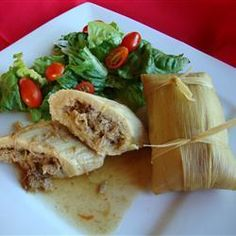 """Real Homemade Tamales   """"I had been looking for a Tamale recipe for years. One day I went to the international market and stood in the Mexican aisle till a woman with a full cart came by. I just asked her if she knew how to make Tamales. This is her recipe with a few additions from me. This is great served with refried beans and a salad."""""""