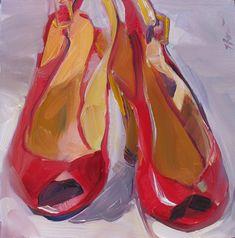 Linda Hunt Fine Art: Red Wedges