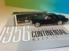 FRANKLIN MINT DIECAST MODEL CAR CLASSIC FIFTIES 1956 LINCOLN CONTINENTAL MARK II