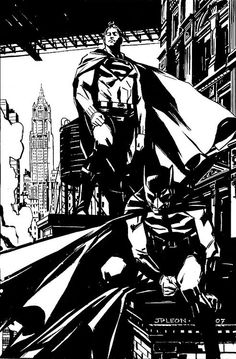 Superman & Batman by John Paul Leon