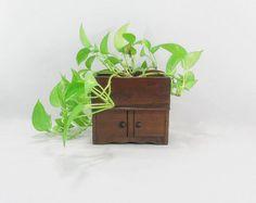 Vintage Planter Dry Sink Planter Supply Box Desk Organizer