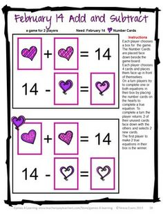 Valentine's Day Math Games, Puzzles and Brain Teasers is from Games 4 Learning. $ It is loaded with Valentine's Day math games, puzzles and brain teasers.