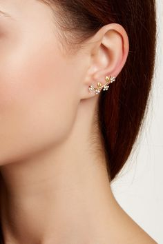 CZ Leaf Ear Cuffs by Amorium on @nordstrom_rack