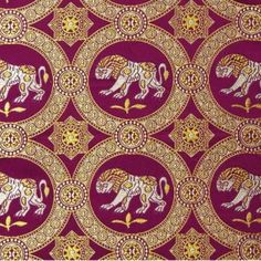 This byzantine silk is dated from 9th-10th century and was based on a Sassanian original. The pictured fragment can be found in Museo Nazionale in Italy, Ravenna.    A lion was a common symbol used by dukes and counts in the Middleages but also by emirs and ranked governers of Ancient Empires in Near East.  Sources about this fabric: Archive of St.Etienne, Arabiyah and Art Quill Studio.