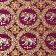 Byzantine Brocade with Lions, Purple