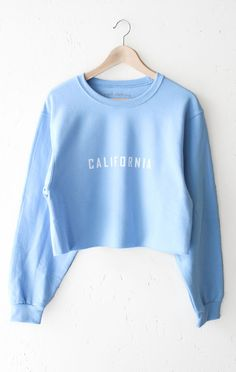 644ef5dda5d8 California Oversized Cropped Sweatshirt