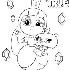 True and the Rainbow Kingdom Coloring Pages True and Bartleby Line Drawing - Free Printable Coloring Pages Colouring Pages, Coloring Pages For Kids, Free Printable Coloring Pages, Free Printables, Fruit Salads, Time To Celebrate, Line Drawing, Kids Playing, Birthday Parties
