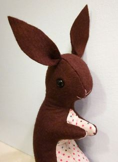 Bunny Softie Plush Toy by sugarcookie on Etsy, $26.00