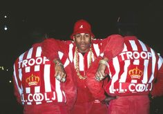 LL Cool J for Troop clothing line shoot, 1988.Ricky Powell was the unofficial Def Jam photographer from 1986?988, photographing Hip Hop? biggest stars?un-DMC, the Beastie Boys, and LL Cool J?n their earliest days on the world stage.