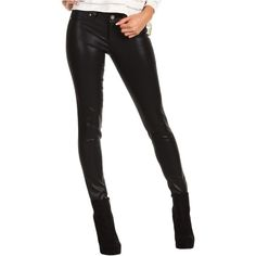 Paige Verdugo Ultra Skinny Coated Women's Jeans, Black ($140) ❤ liked on Polyvore featuring jeans, black, black super skinny jeans, black zipper jeans, paige denim jeans, leather jeans and black leather skinny jeans