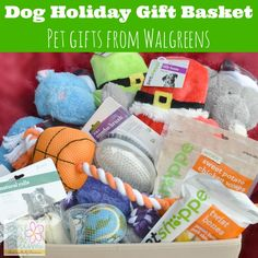 Dog Holiday Gift Basket inspired by the Walgreens Holiday Guide #HappyAllTheWay #shop #cbias