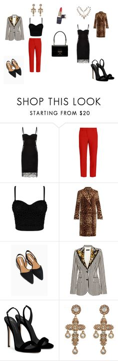 наряды для курса, занятие 2 (Dolce & Gabbana) by kkaten-ka on Polyvore featuring мода, La Perla, Dolce&Gabbana, MSGM and Giuseppe Zanotti