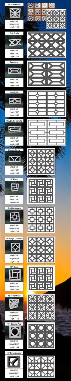 Concrete Architectural Screen Blocks : Masonry Construction | Carroll's Building Materials (St. Petersburg, FL) :: Ready Mix Concrete, Masonry, Stone, Gravel, Sand, Brick, Pavers
