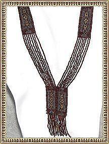 Art Deco Multi Beaded Sautoir Necklace Chrome