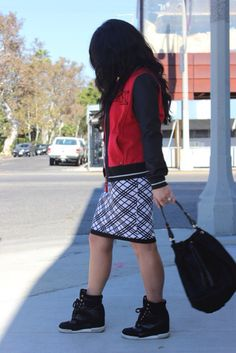 Sporty take on the Meredith top and Alice Anne skirt