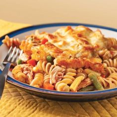 Gratin de pâtes et poulet à la salsa - Soupers de semaine - Recettes 5-15 - Recettes express 5/15 - Pratico Pratique