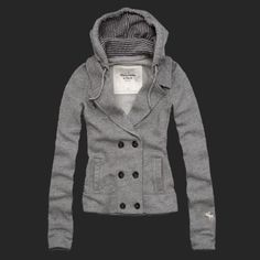 Abercrombie And Fitch Trisha Womens Hoodies Gray - This sweater is cute and all, but it's A&F, and according to the CEO, I'm too fat and ugly to wear this...but I still want to. And I would rock it.