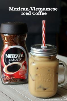 Mexican-Vietnamese style iced Coffee, to drink during summer when we need coffee, just without the heat. It's refreshing, definitely will pick you up drink.