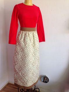 JACQUES TIFFEAU VINTAGE LONG DRESS 1960's #JacquesTiffeau