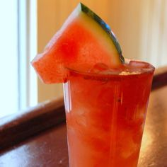Fresh Watermelon Margarita drink recipe features crushed watermelon with tequila, lime and Cointreau.