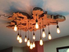 Create your own custom Live-Edge Wood Slab Light by 7MWoodworking