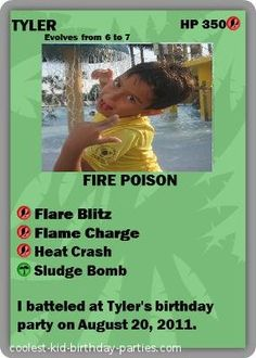 Coolest Pokemon 7th Birthday Party: My son is a HUGE Pokemon fan and wanted a Pokemon party at our house for his 7th birthday. As his birthday is in August and it is sooo hot, we decided pokemon parti, birthday parties, pokemon birthday, pokemon card, xavier parti