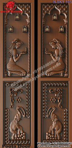 Wooden Door Design, Wooden Doors, Home Decor Bedroom, Kids Bedroom, Shelf Inspiration, Indian Home Design, House Design Pictures, Pooja Room Door Design, Puja Room