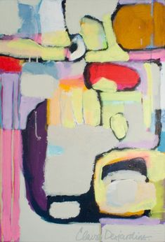 2011 - Just Enough - original acrylic abstract painting by Claire Desjardins
