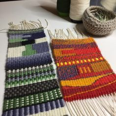 Michelle Hamill, Weaving Tapestry on Little Looms--online class with Rebecca Mezoff.
