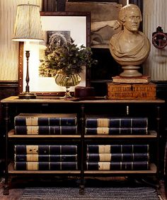 classic ralph lauren styling & display – Home Office Wallpaper Blue And White Fabric, Rustic Home Interiors, Second Empire, Bohemian Living, Pink Wallpaper, Office Wallpaper, Dream Decor, Traditional House, Traditional Decorating