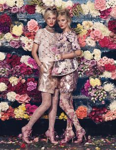Patricia van der Vliet & Emily Baker in 'Bloom Town' by Shariff Hamza for W Magazine, March 2012.