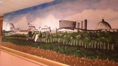 A mural of Milton Keynes to spark memory in this Milton Keynes care home. Care Homes, Milton Keynes, Murals, Environment, Outdoor, Design, Outdoors, Wall Murals, Outdoor Games