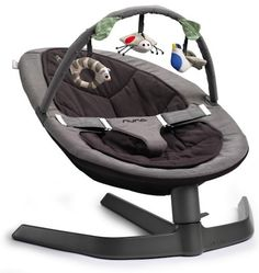 Rock your baby in style with the Nuna Leaf bouncer. No batteries but sways for 3mins with every touch. An expensive option at $300 but holds up to 80kg so good for bigger kids to sit in later on.