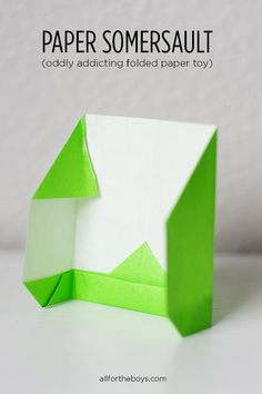 DIY folded Paper Somersault Toy - easy and fun!