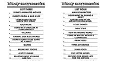101 Best Scattergories Lists images in 2020