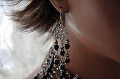 Bridal Blue Pearl EarringsSwarovski Crystal by cynthiacouture