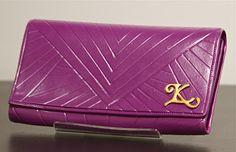 Purple clay wallet.