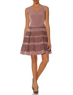 Lace Stripe Dress from THELIMITED.com