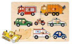 Goki 57996 - Steckpuzzle - Verkehrsmittel, EUR 7,79
